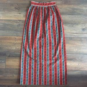 Rare Extra Small Vintage 60s High Waisted Skirt